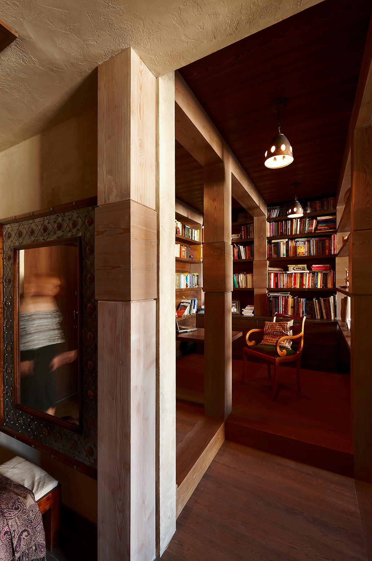 Квартира «», библиотека, фото из проекта