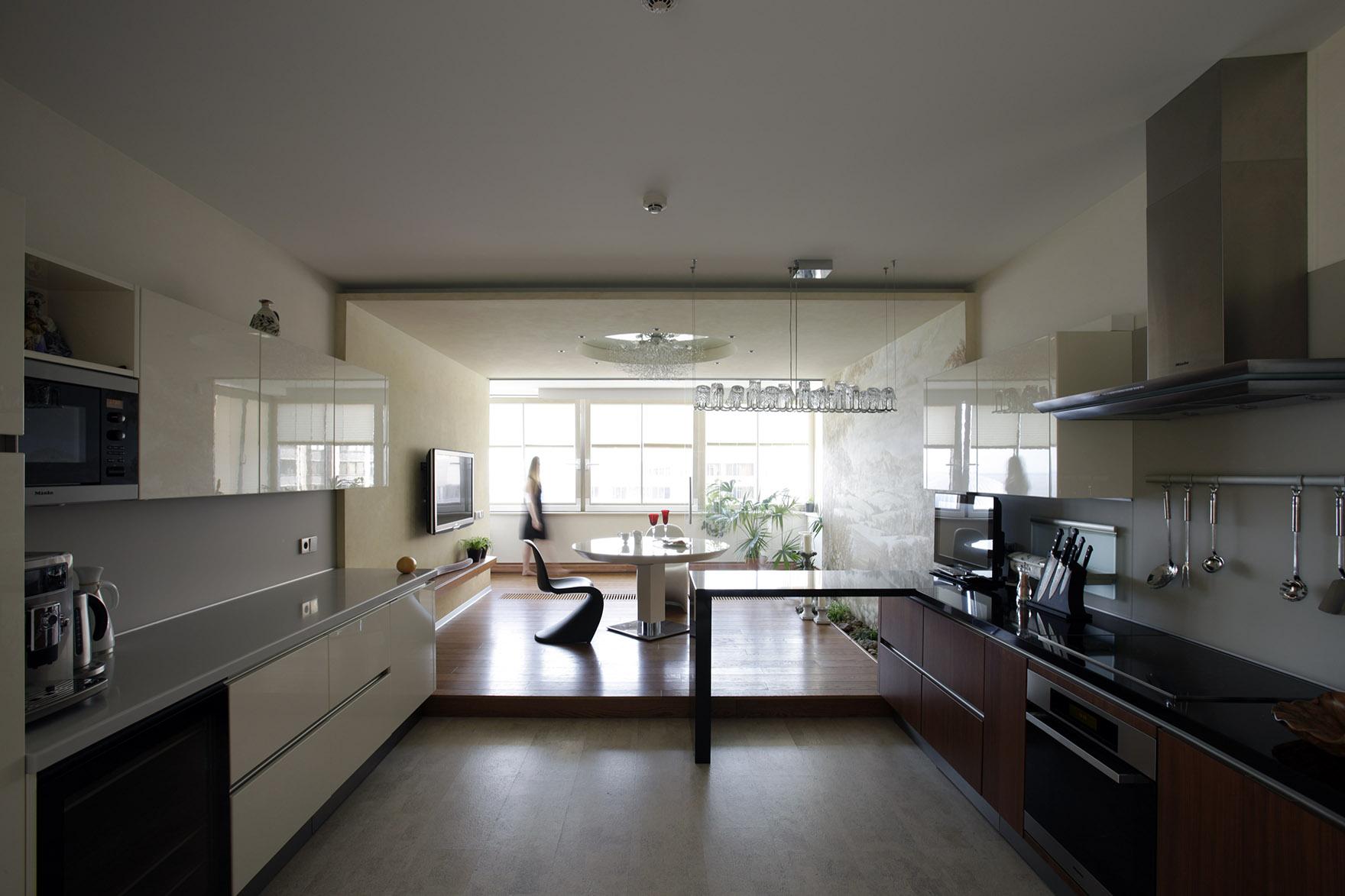 Панорамные кухни фото