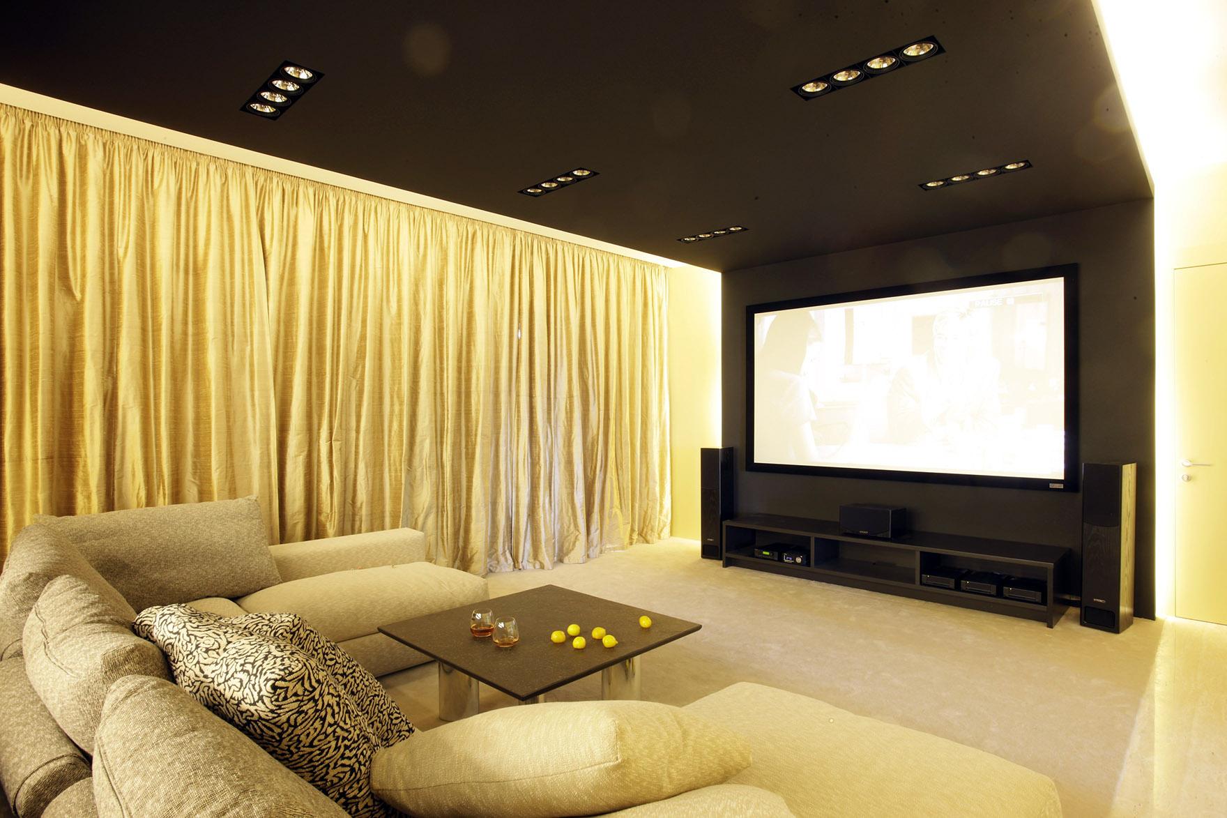 Квартира «», домашний кинотеатр, фото из проекта