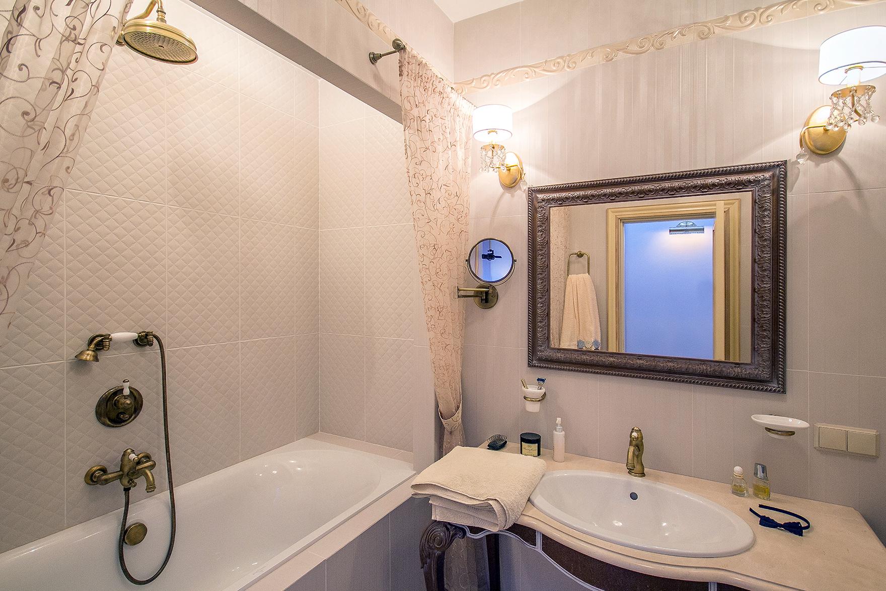 Ванная дизайн в стандартной квартире