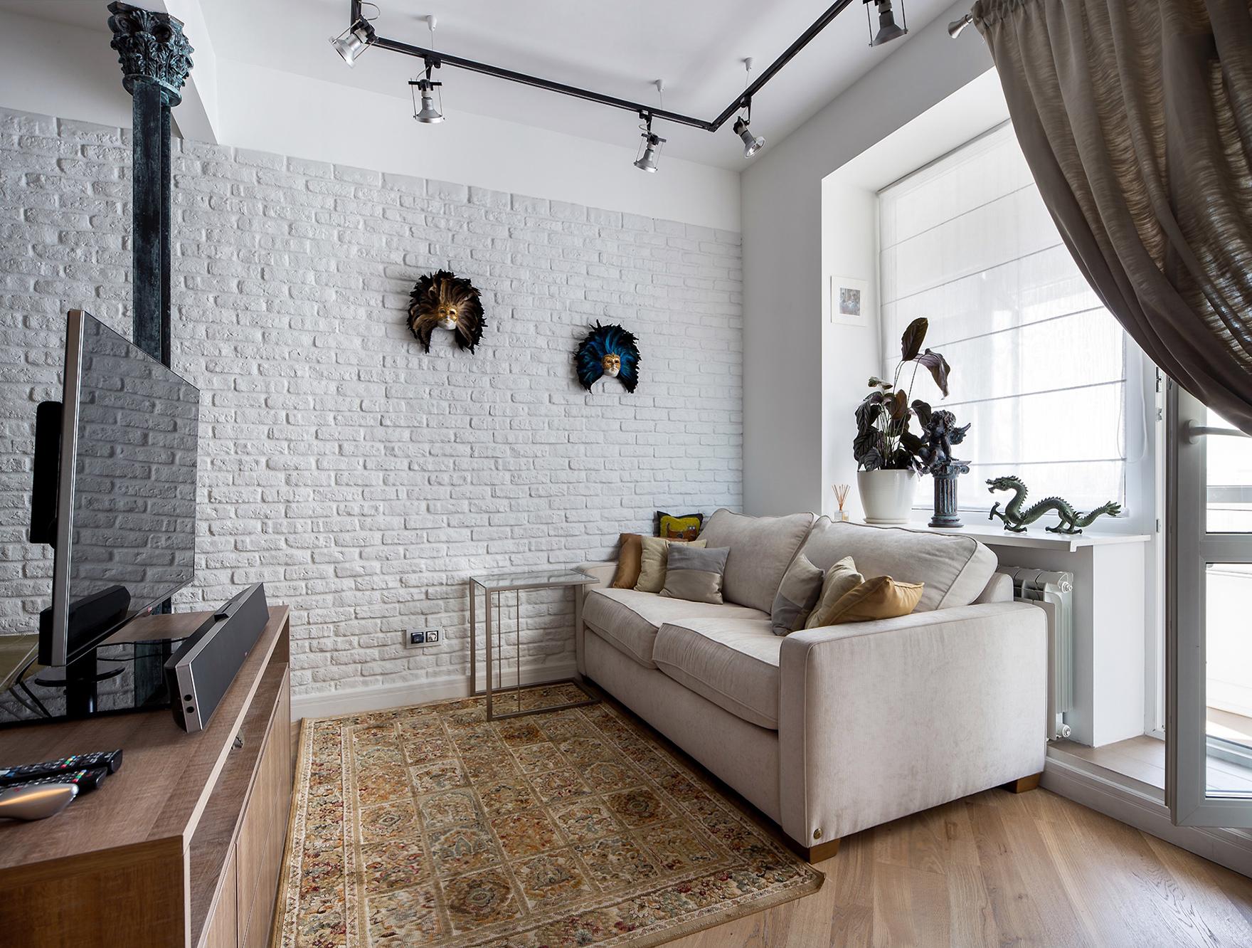 Квартира «Мечта в стиле Лофт», гостиная, фото из проекта