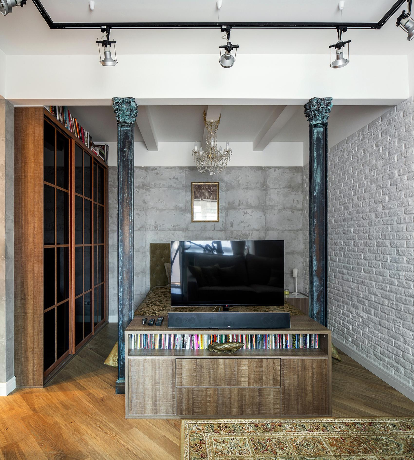 Квартира «Мечта в стиле Лофт», спальня, фото из проекта