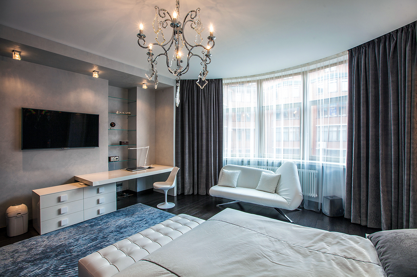Интерьер спальни гостиной фото