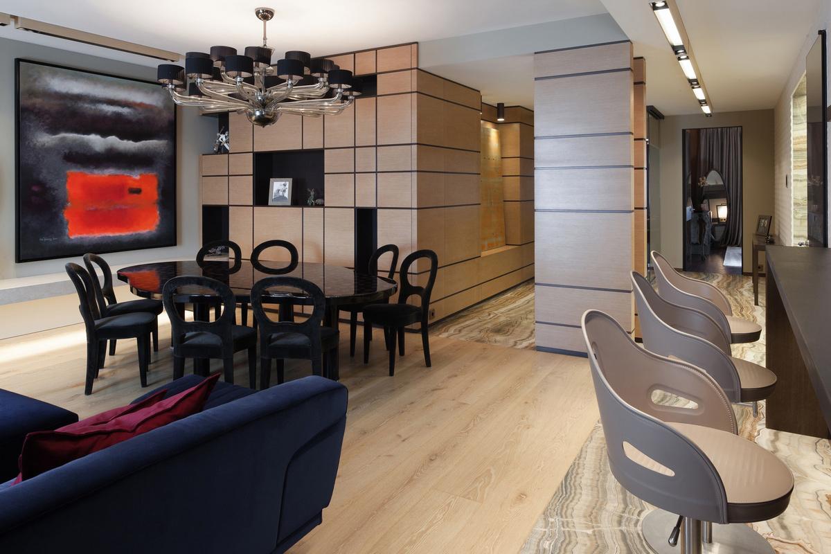 Квартира «Квартира в центре Москвы», столовая, фото из проекта