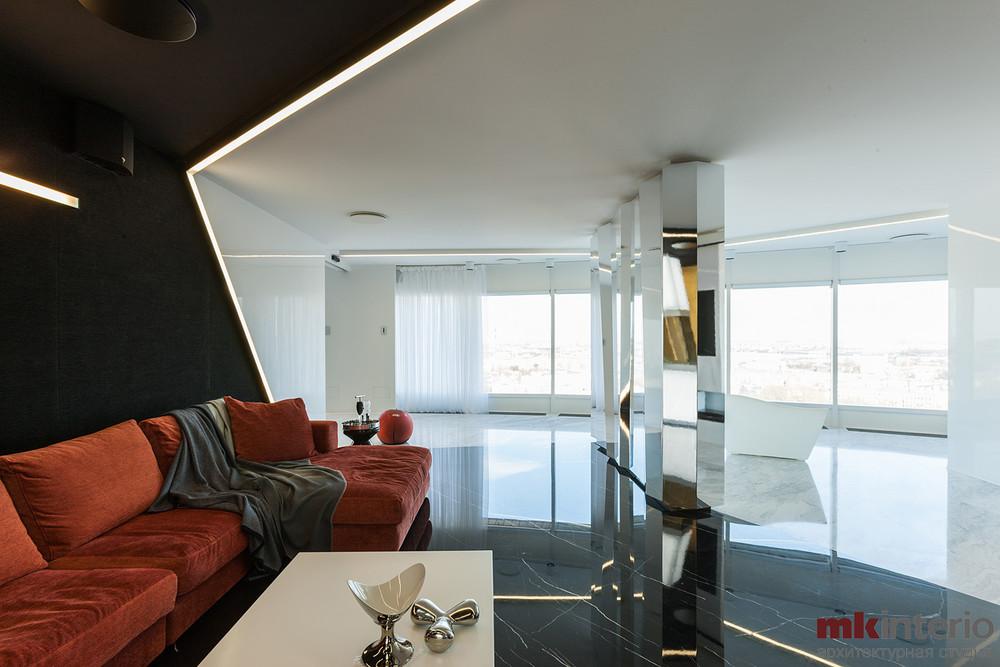Квартира «Апартаменты 220 кв.м», гостиная, фото из проекта