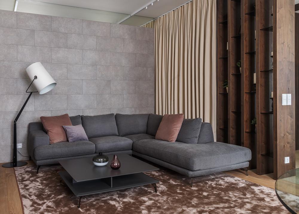 Квартира «Апартаменты на 1-м Зачатьевском переулке», гостиная, фото из проекта