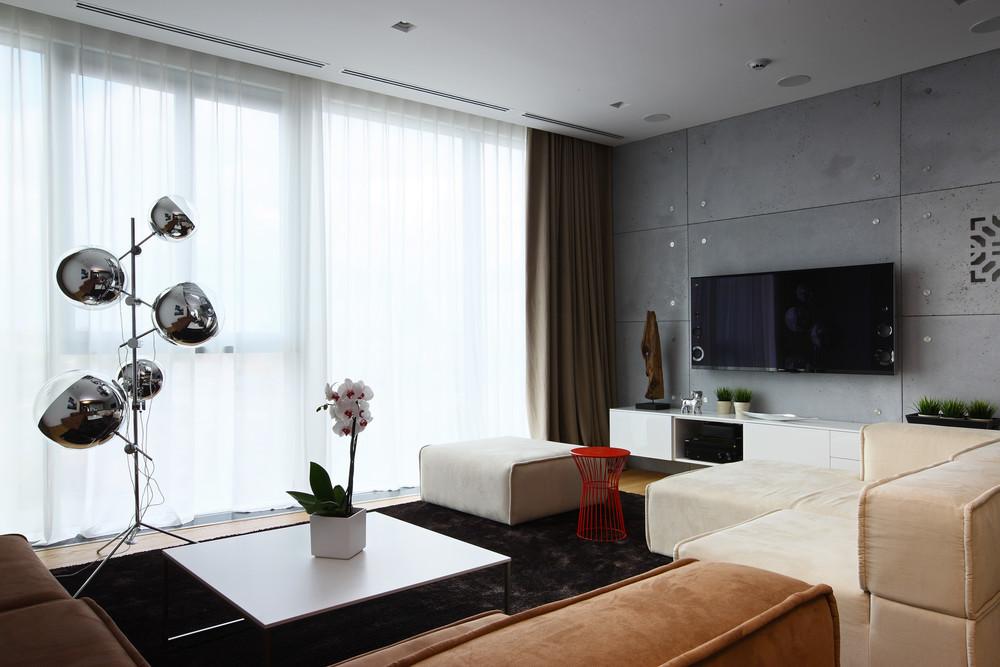 Квартира «Апартаменты в ЖК Легенда Цветного», гостиная, фото из проекта