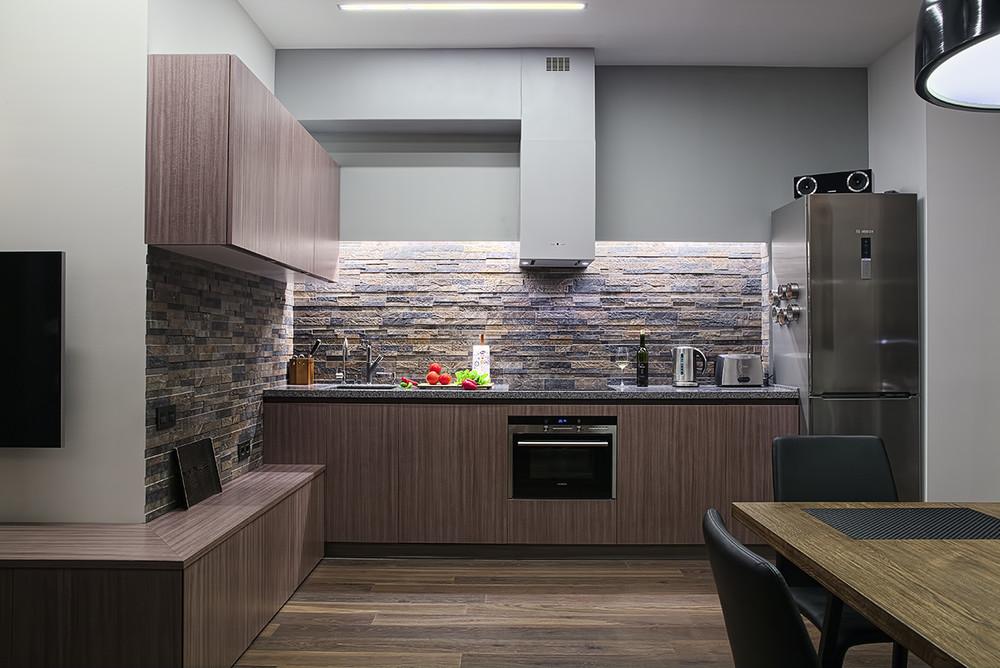 Квартира «Квартира для холостяка (Троицк)», кухня, фото из проекта