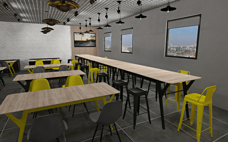 Дизайн офиса. Кафе из проекта Кафе для сотрудников международной DIY-компании, фото №96159