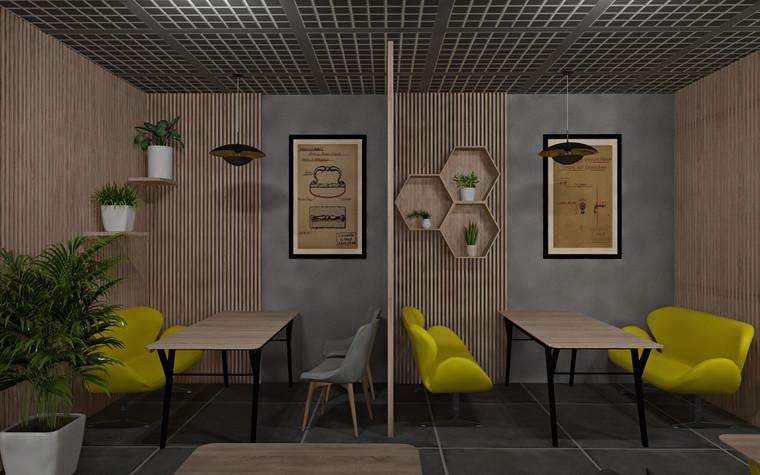 Дизайн офиса. Кафе из проекта Кафе для сотрудников международной DIY-компании, фото №96168