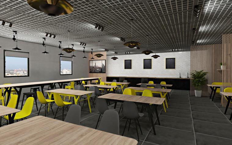 Дизайн офиса. Кафе из проекта Кафе для сотрудников международной DIY-компании, фото №96160