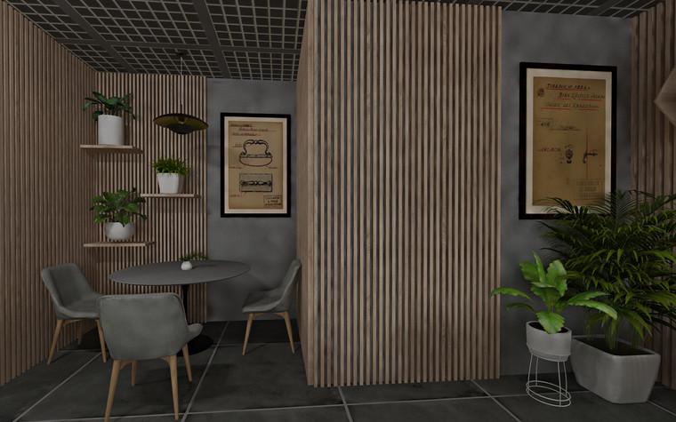 Дизайн офиса. Кафе из проекта Кафе для сотрудников международной DIY-компании, фото №96161