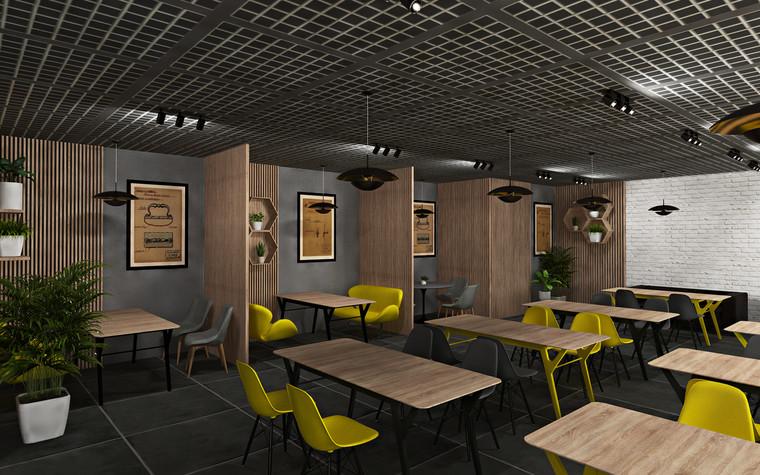 Дизайн офиса. Кафе из проекта Кафе для сотрудников международной DIY-компании, фото №96162