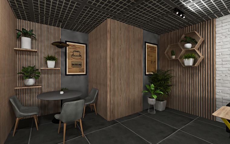 Дизайн офиса. Кафе из проекта Кафе для сотрудников международной DIY-компании, фото №96163