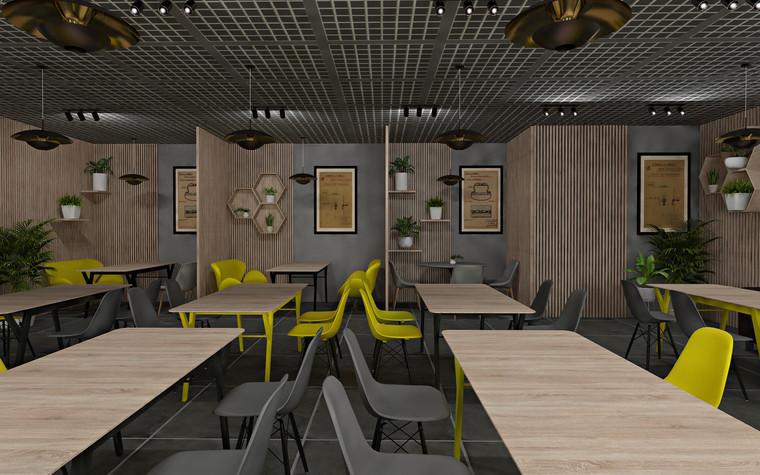 Дизайн офиса. Кафе из проекта Кафе для сотрудников международной DIY-компании, фото №96165