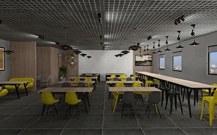 Дизайн офиса. Кафе из проекта Кафе для сотрудников международной DIY-компании, фото №96167