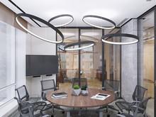 Функциональный минимализм в офисе небольшой компании, фото № 7445, Duplex Apartment  Интерьерные решения