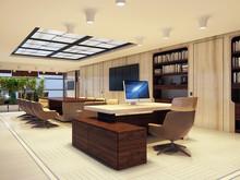 Кабинет генерального директора крупной компании, фото № 7453, Duplex Apartment  Интерьерные решения