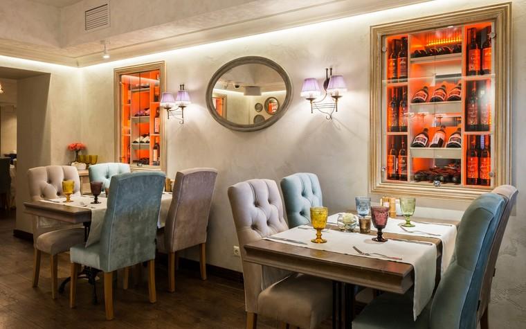 Ресторан. ресторан из проекта Ресторан грузинской кухни в центре города Санкт-Петербурга, фото №78534