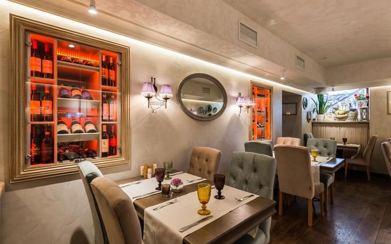 Ресторан. ресторан из проекта Ресторан грузинской кухни в центре города Санкт-Петербурга, фото №78535