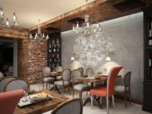 Ресторан с росписью, фото № 7386, Art-i-Сhok