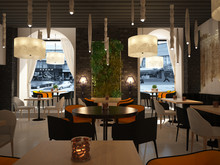 Ресторан в современном стиле, фото № 7403, Art-i-Сhok