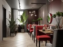 Ресторан «Интерьер ресторана «ИЗУМРУД, РУБИН И САПФИР»», ресторан . Фото № 31641, автор GM-Interior GM-interior